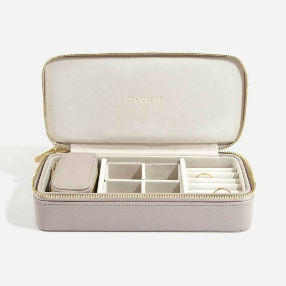 Supersize Etui / Travel Box Set in Taupe & Grey-1