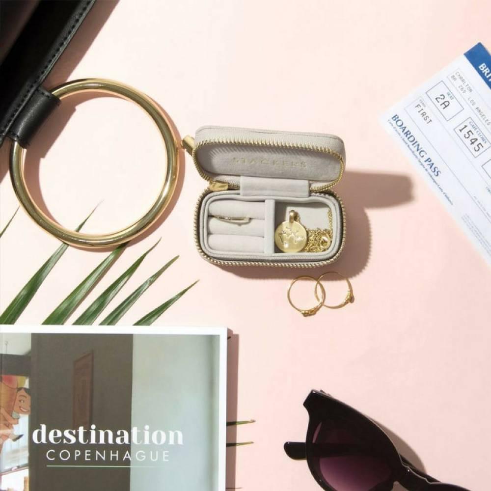 Supersize Etui / Travel Box Set in Taupe & Grey-6
