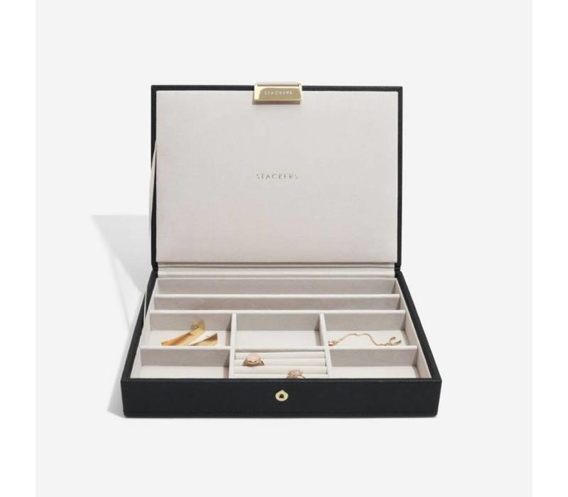 Classic Top-Box in Zwart & Grijs