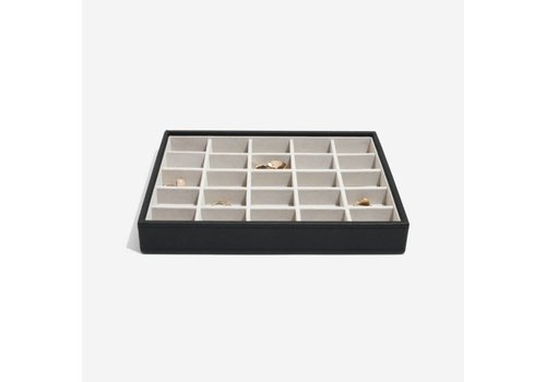 STACKERS Classic 25-Section Box | Black & Grey