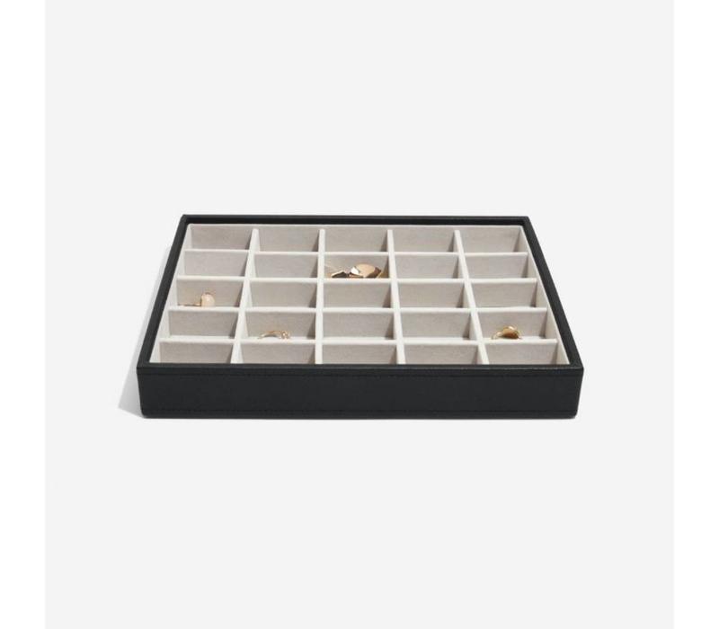 Classic 25-Section Box in Zwart & Grijs