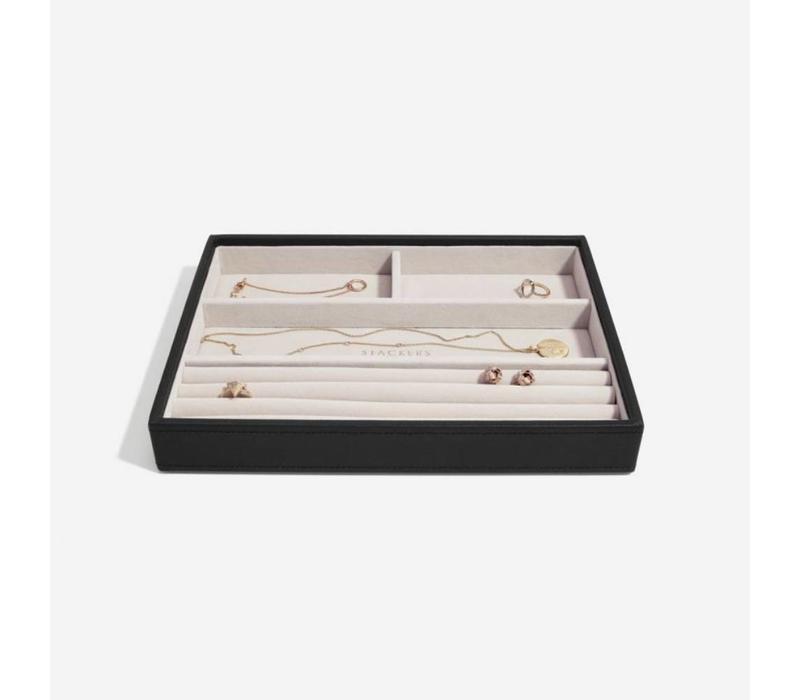 Classic 4-Section Box in Zwart & Grijs