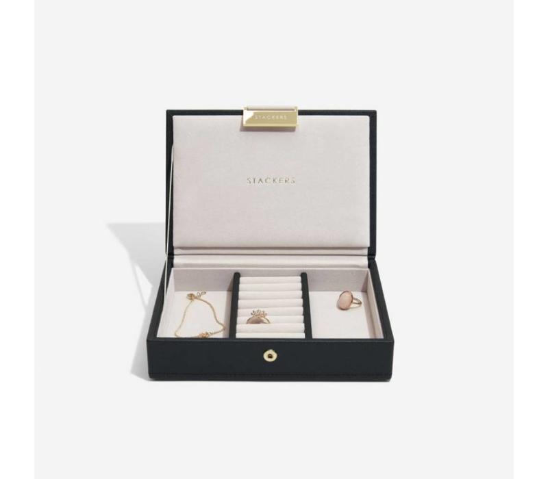 """Juwelen / Sieraden Doos """"Mini"""" 2-Set in Zwart & Grijs"""