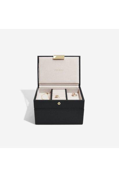 Mini Jewellery Box 2-Set | Black & Grey