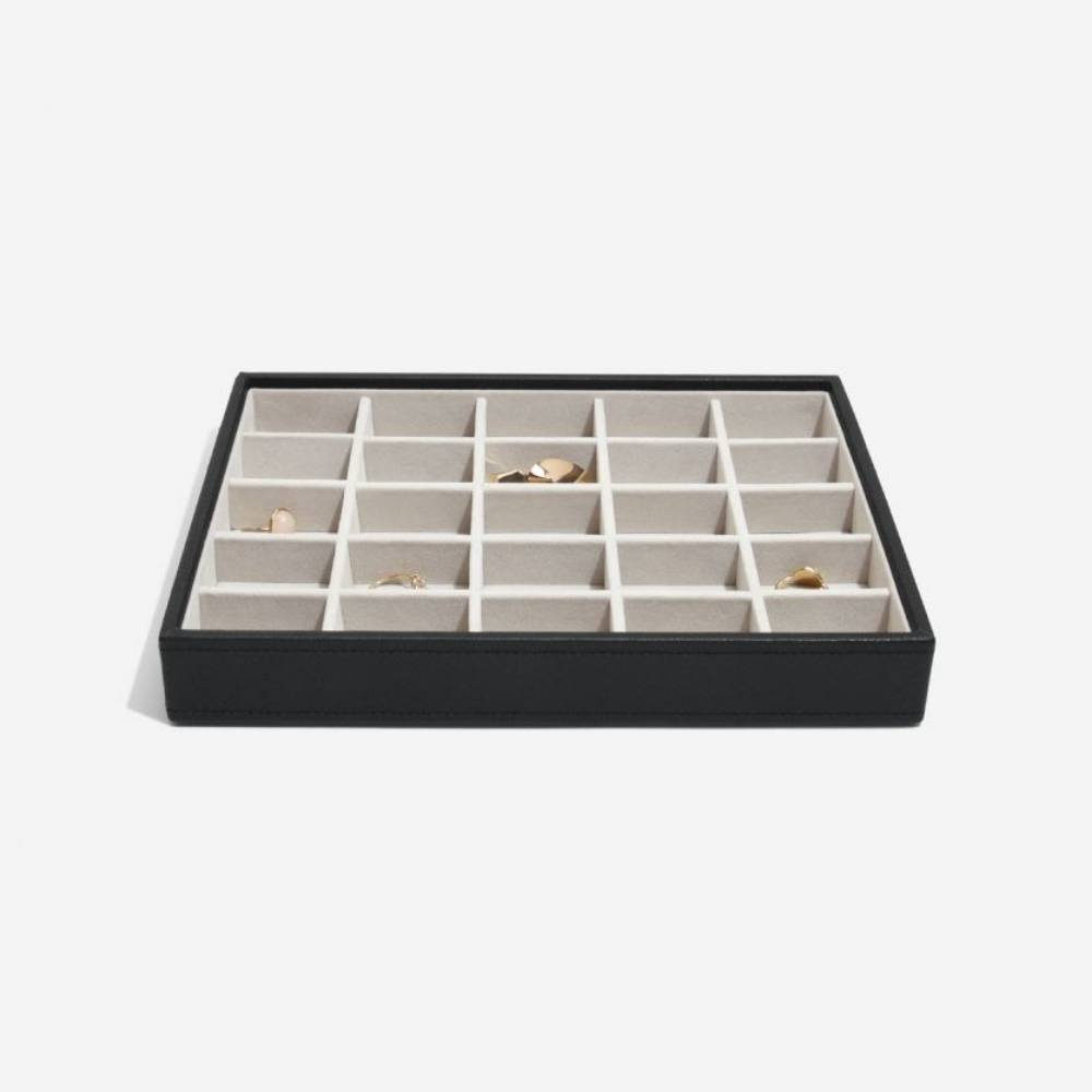 "Jewellery Box ""Classic"" 3-Set in Black & Grey-7"