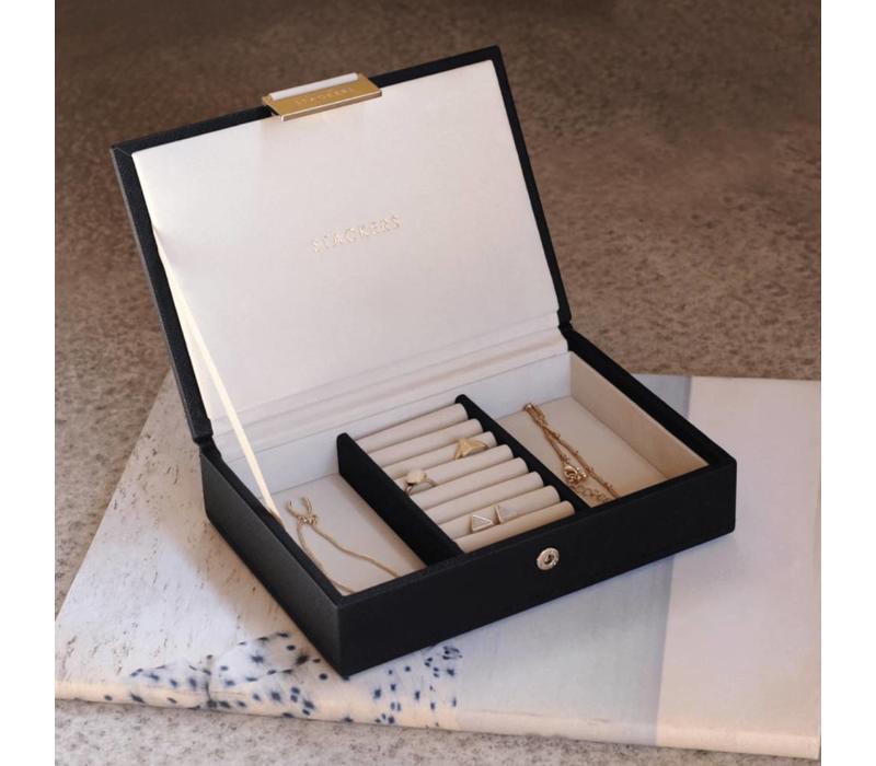 Mini Top-Box in Zwart & Grijs