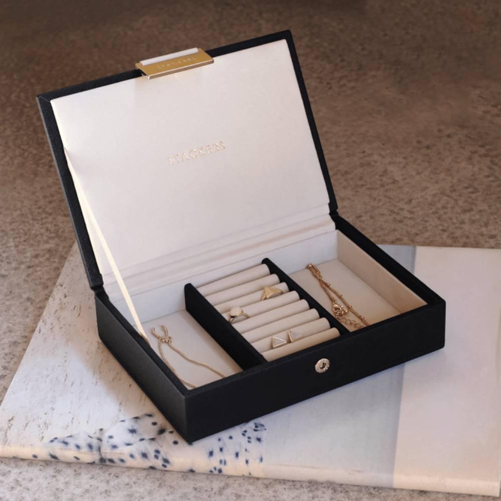 Mini Top-Box Black & Grey Velvet-3