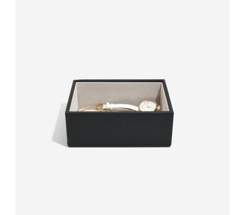 Mini Open-Box in Zwart & Grijs