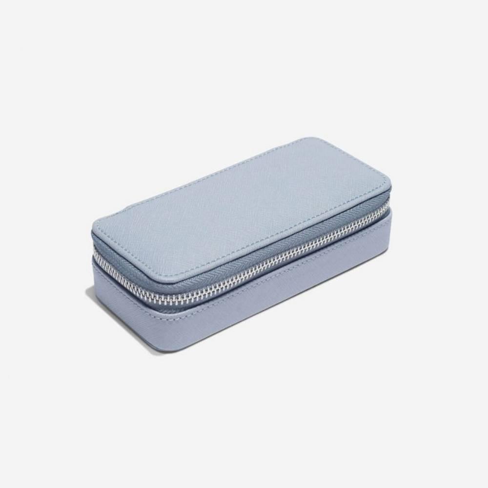 Classic Etui / Travel Box in Dusky Blue & Grey-2