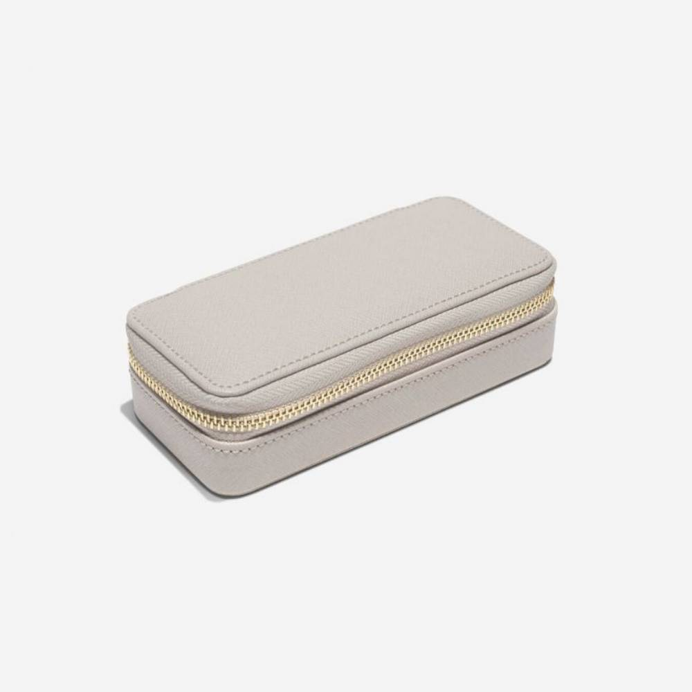 Classic Etui / Travel Box in Taupe & Grey-2