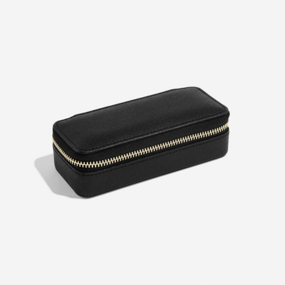 Classic Etui / Travel Box in Black & Grey-2