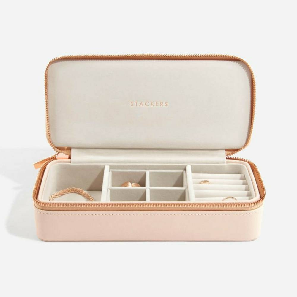Supersize Etui / Travel Box in Blush & Grey-2