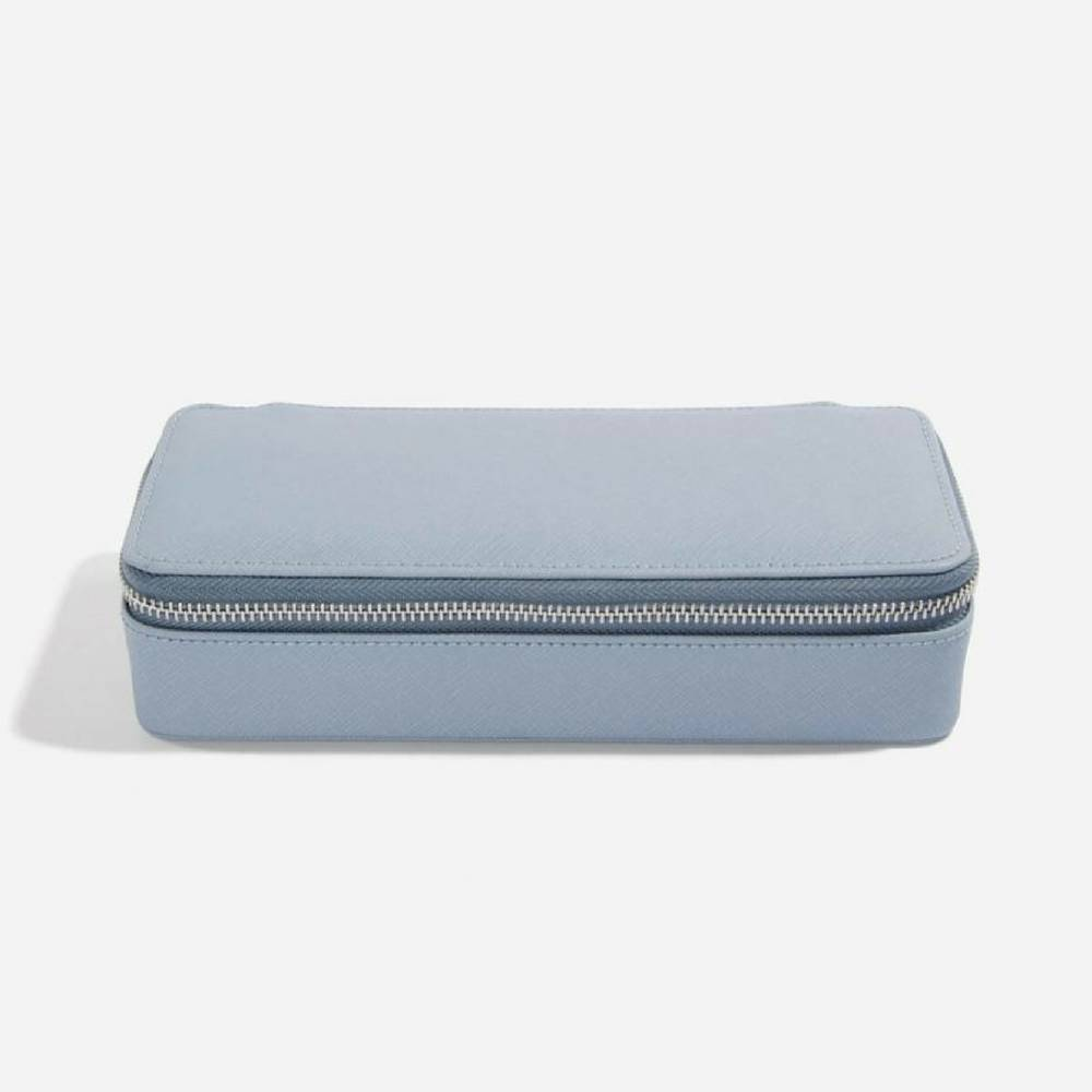 Supersize Etui / Travel Box in Dusky Blue & Grey-1