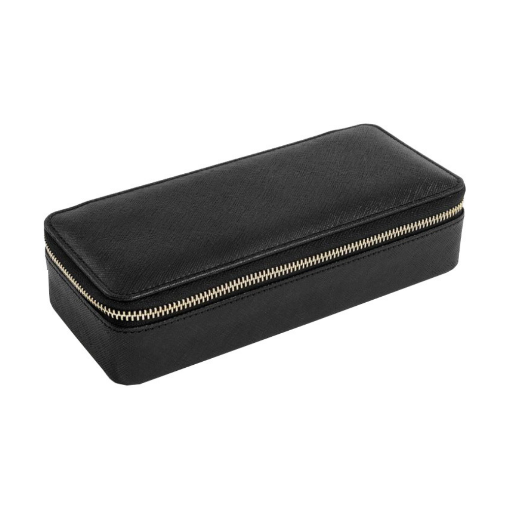 Large Travel Box Set in Black & Grey Velvet-2