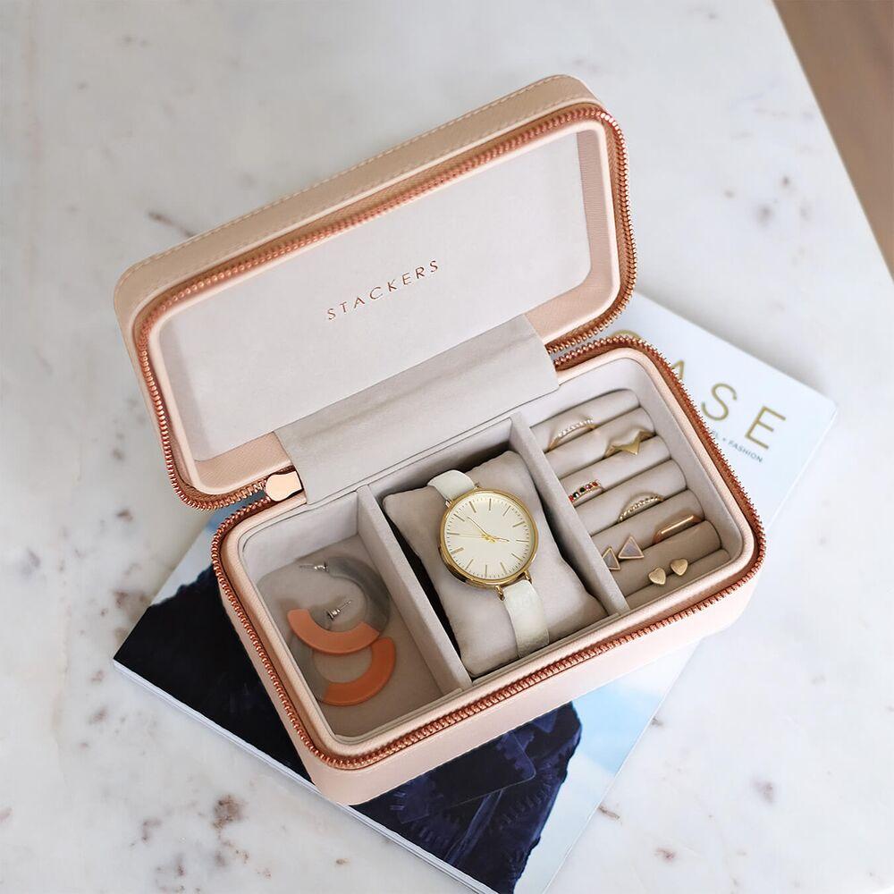 Deep Travel Box in Blush & Grey Velvet-3