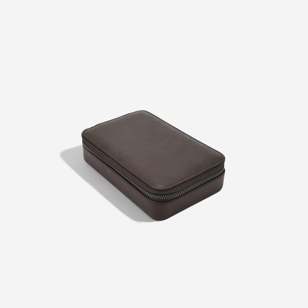 Travel Watch & Cufflink Box Brown-3