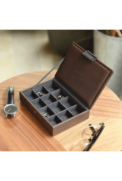 Mini Cufflink Box Brown