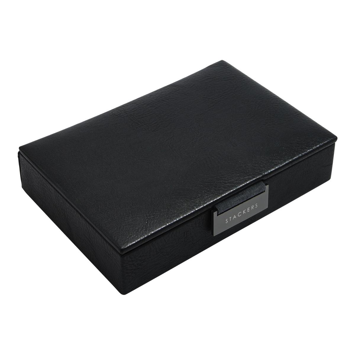 Mini Cufflink Box Black-2