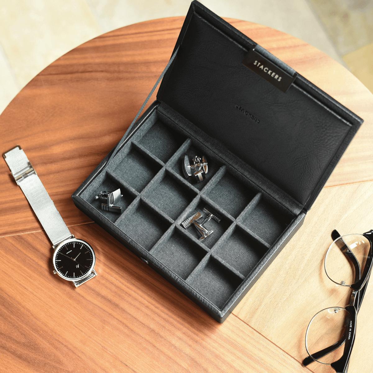 Mini Cufflink Box Black-1