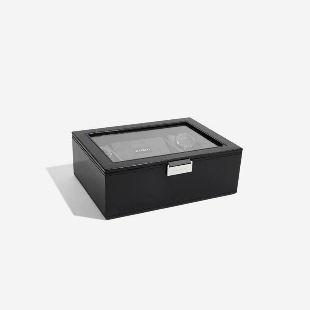 Top Box 8 Watches | Black & Grey Velvet-2