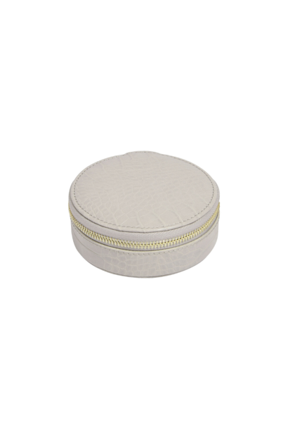Round Travel Box Putty Croc