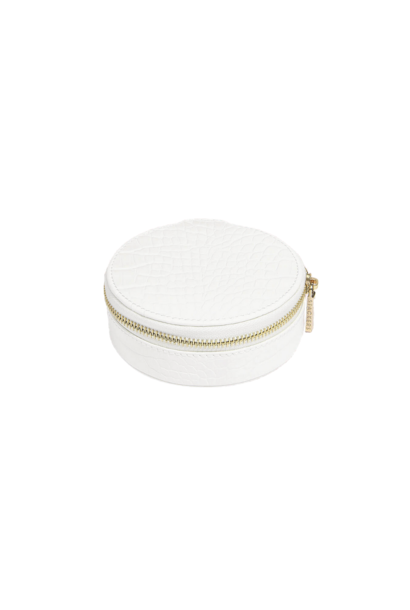 Round Travel Box Chalk Croc