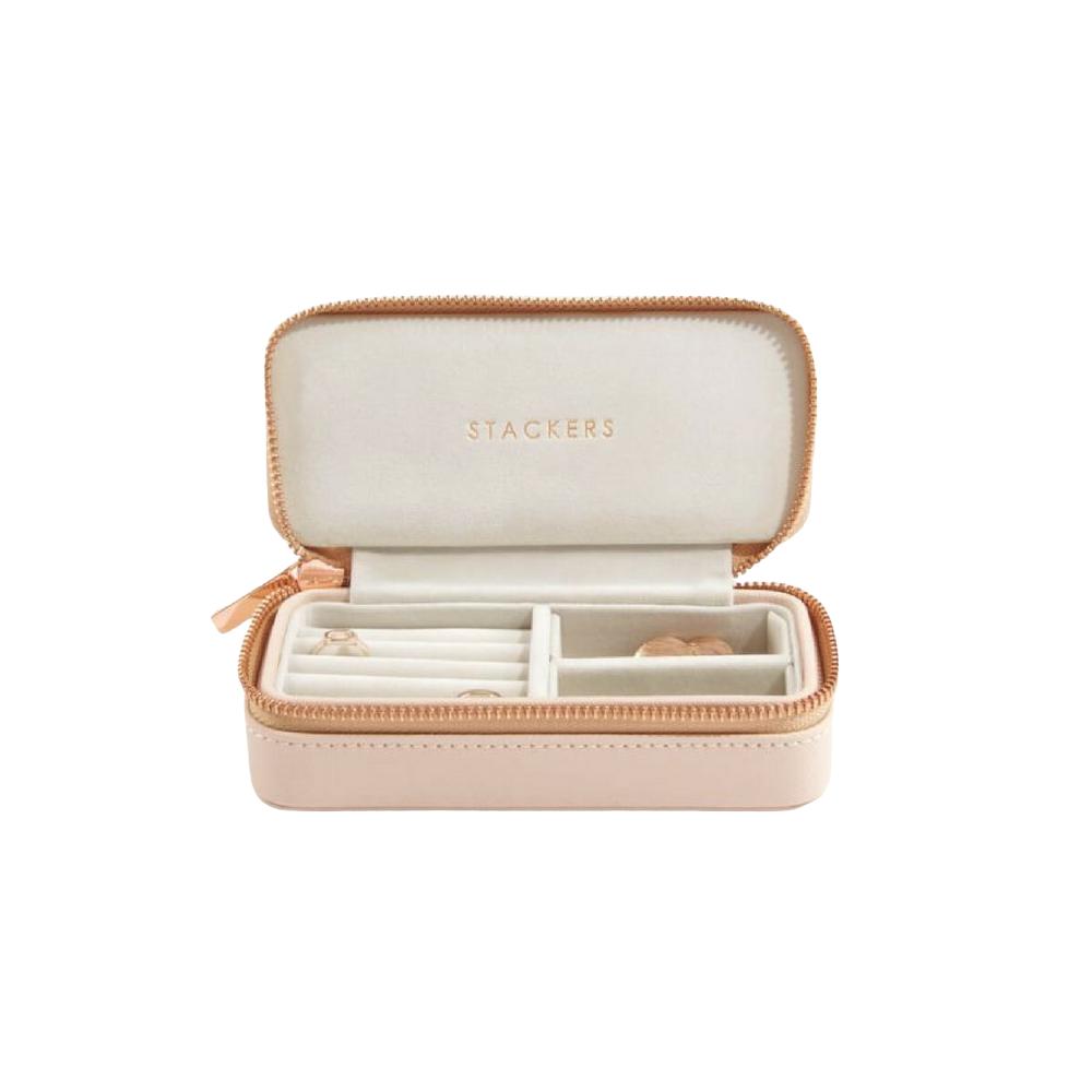 Classic Etui / Travel Box in Blush & Grey-1