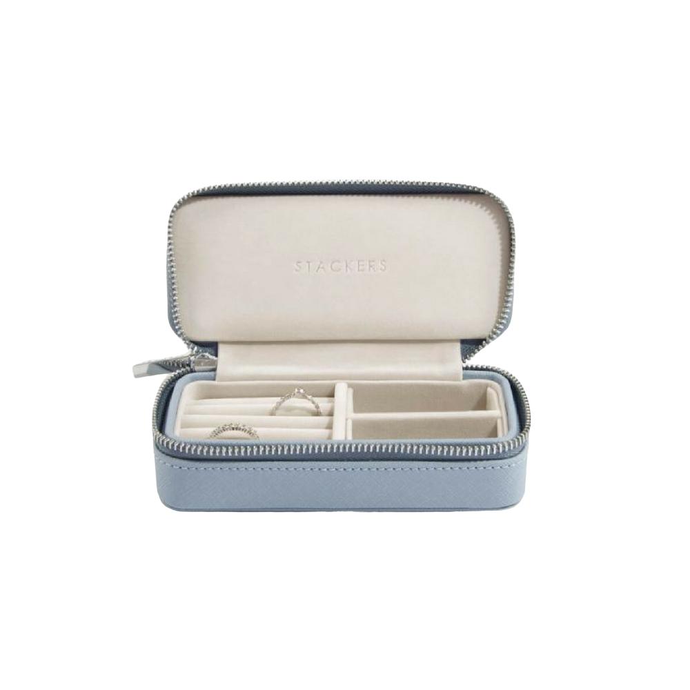 Classic Etui / Travel Box in Dusky Blue & Grey-1