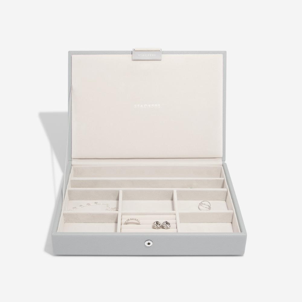 Classic Top Box Pebble Grey & Grey Velvet-2