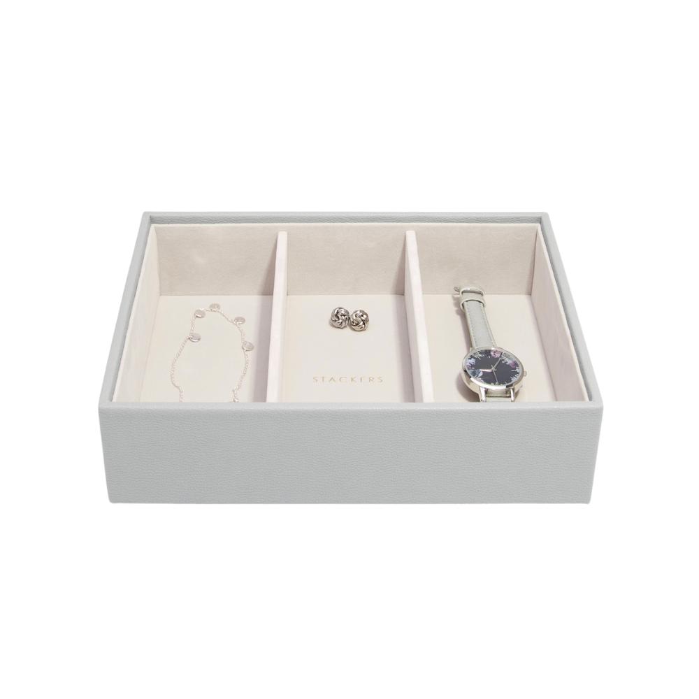 Classic 3-Section Box Pebble Grey & Grey Velvet-2