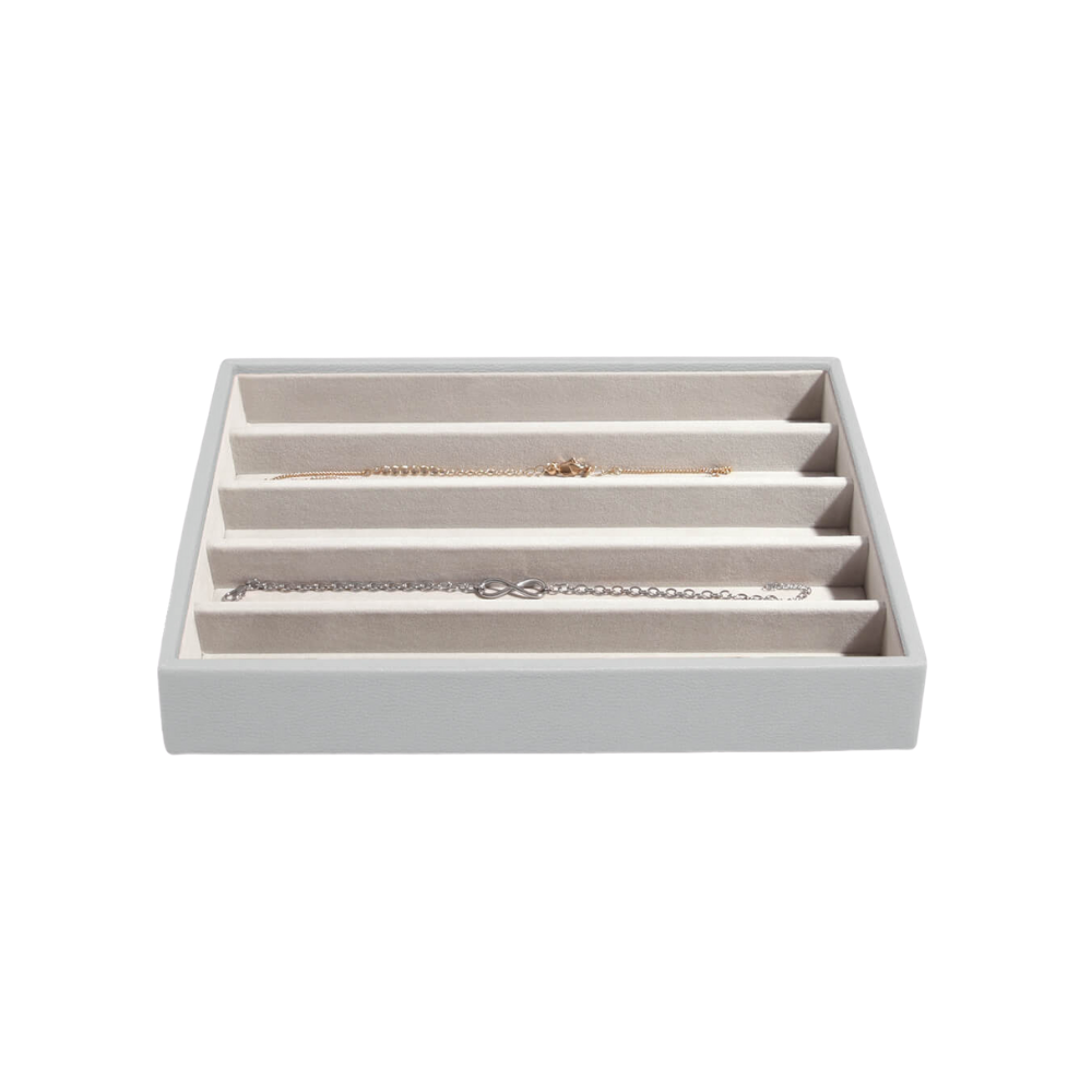 Classic 5-Section Box Pebble Grey & Grey Velvet-1