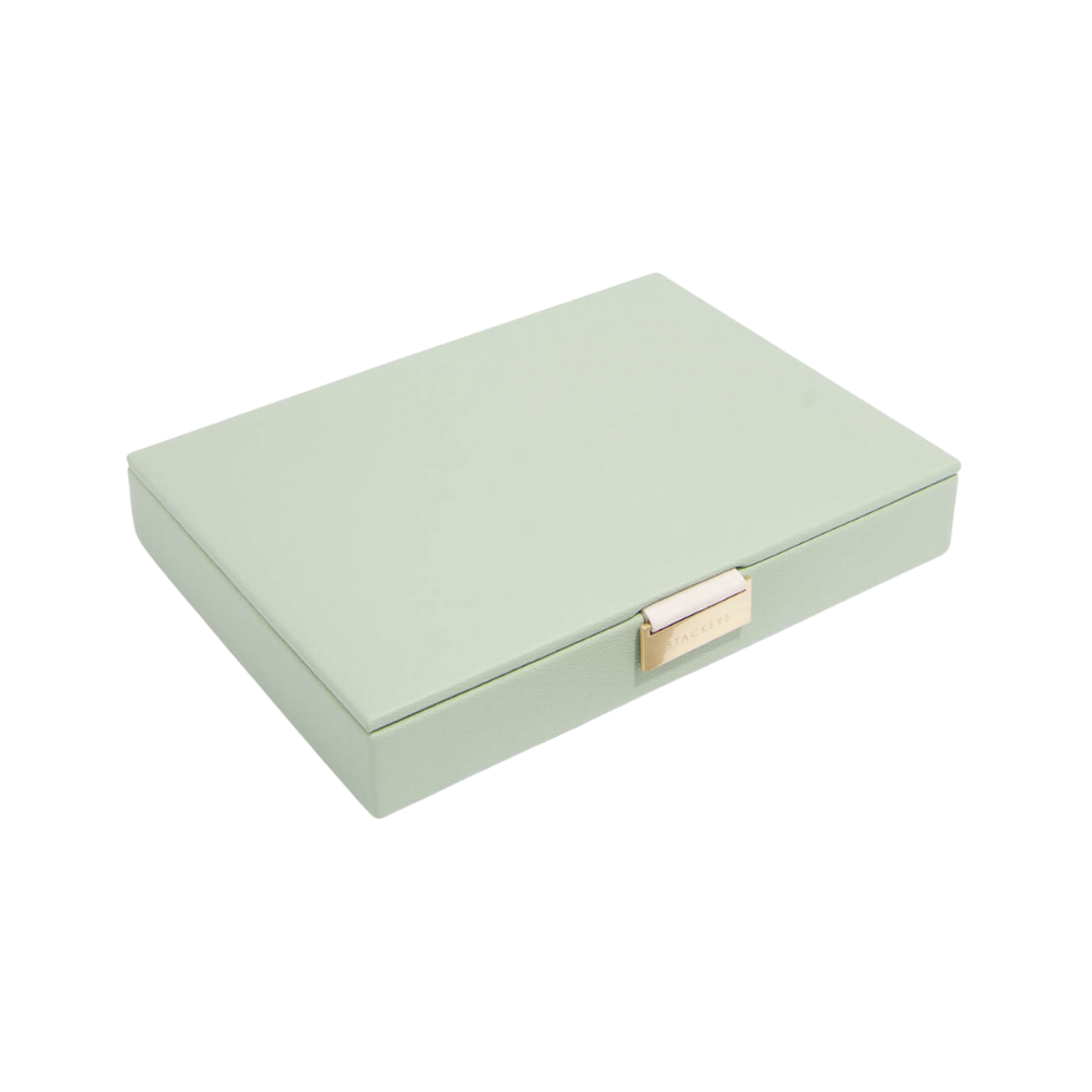 Classic Top Box Sage Green & Grey Velvet-1