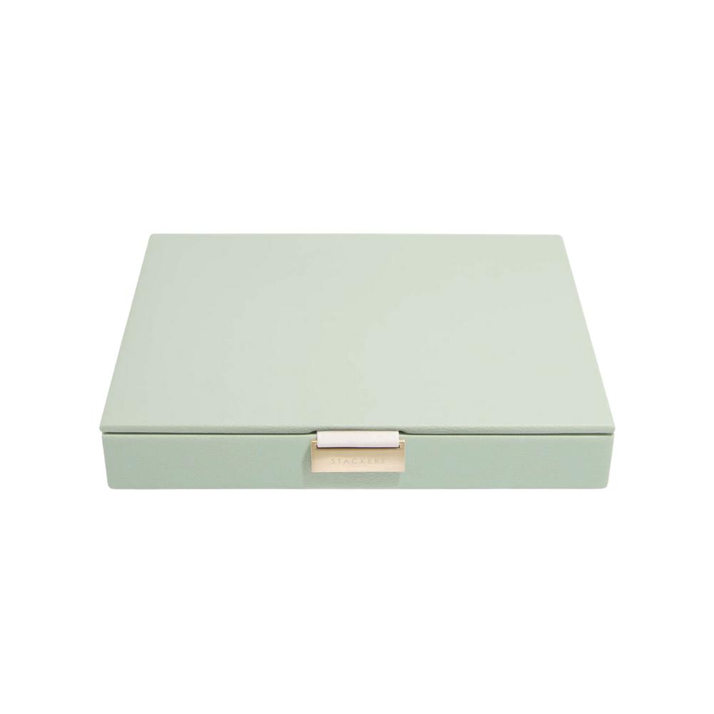 Classic Top Box Sage Green & Grey Velvet-2