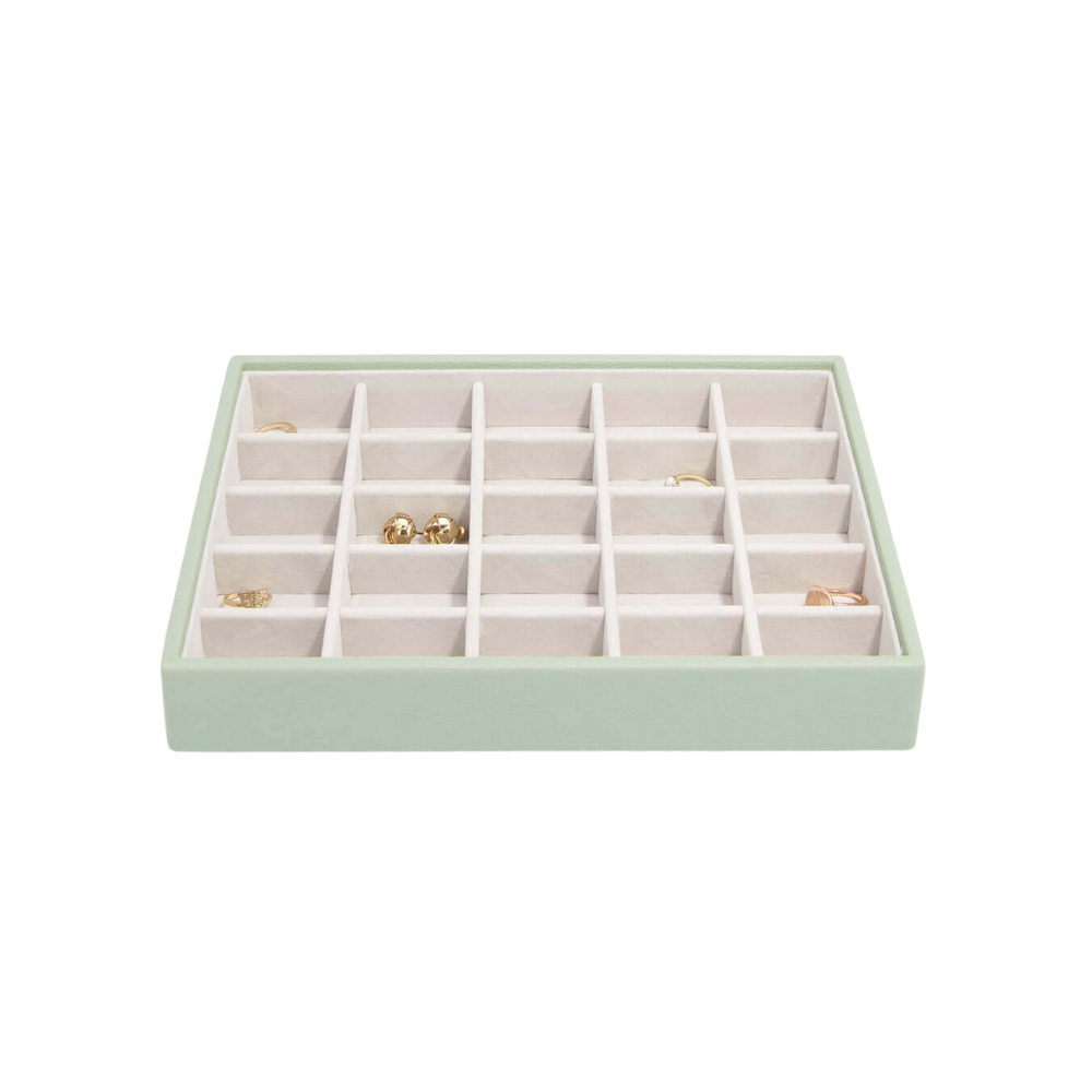 Classic 25-Section Box Sage Green & Grey Velvet-2
