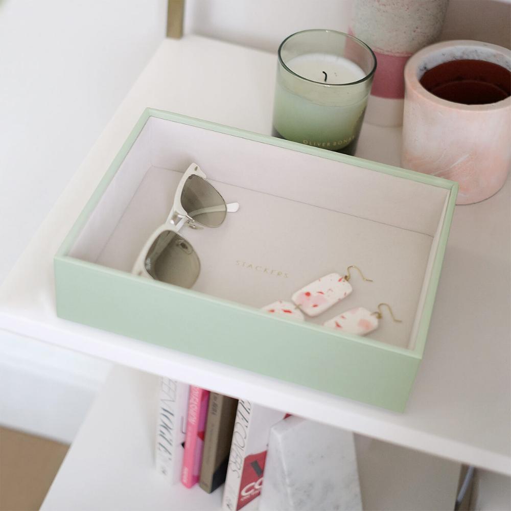 Classic Open Box Sage Green & Grey Velvet-3