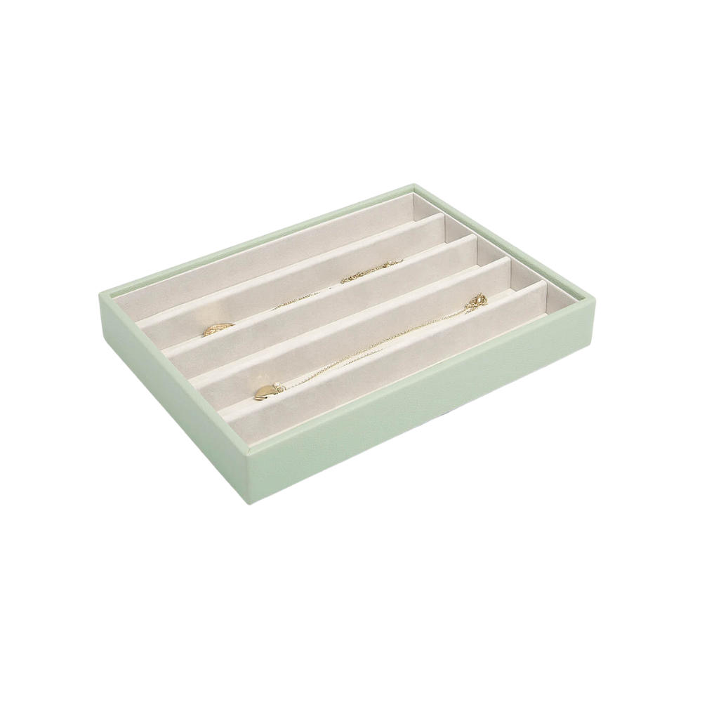 Classic 5-Section Box Sage Green & Grey Velvet-1