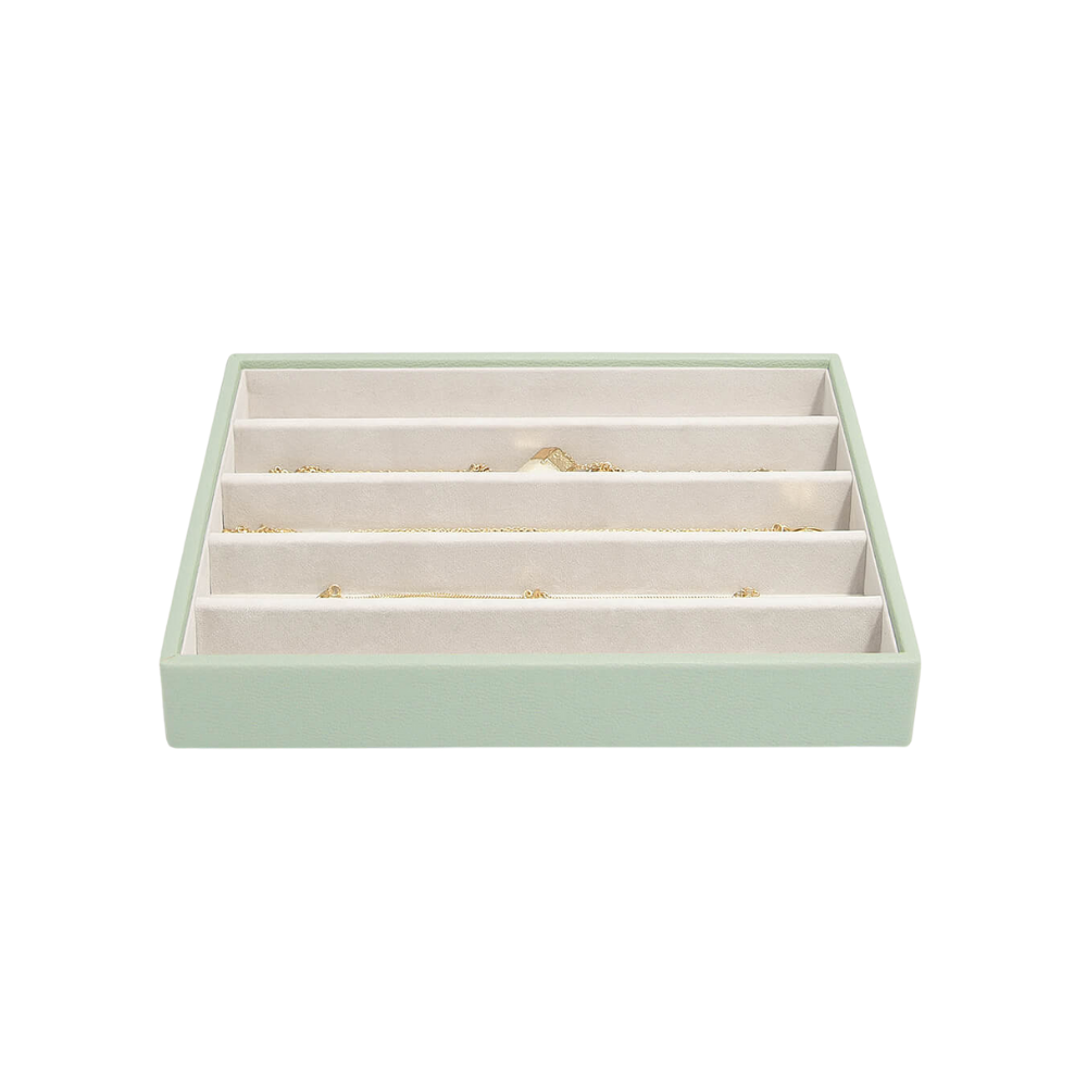 Classic 5-Section Box Sage Green & Grey Velvet-2