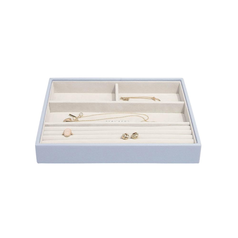 Classic 4-Section Box Lavender & Grey Velvet-2