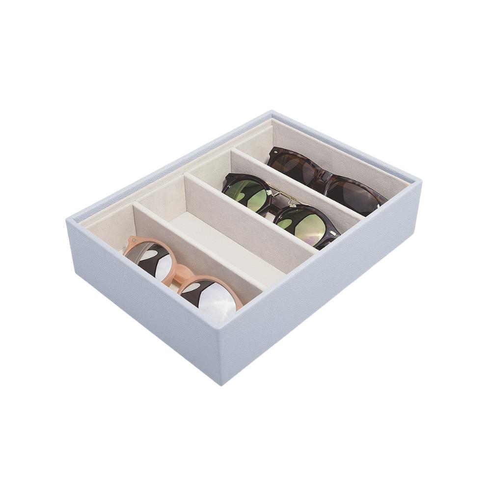 Classic Eyewear Storage Box Lavender & Grey Velvet-1