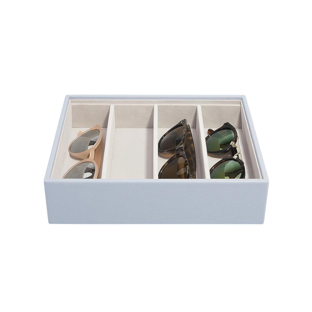 Classic Eyewear Storage Box Lavender & Grey Velvet-2