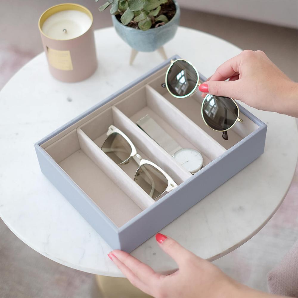 Classic Eyewear Storage Box Lavender & Grey Velvet-3