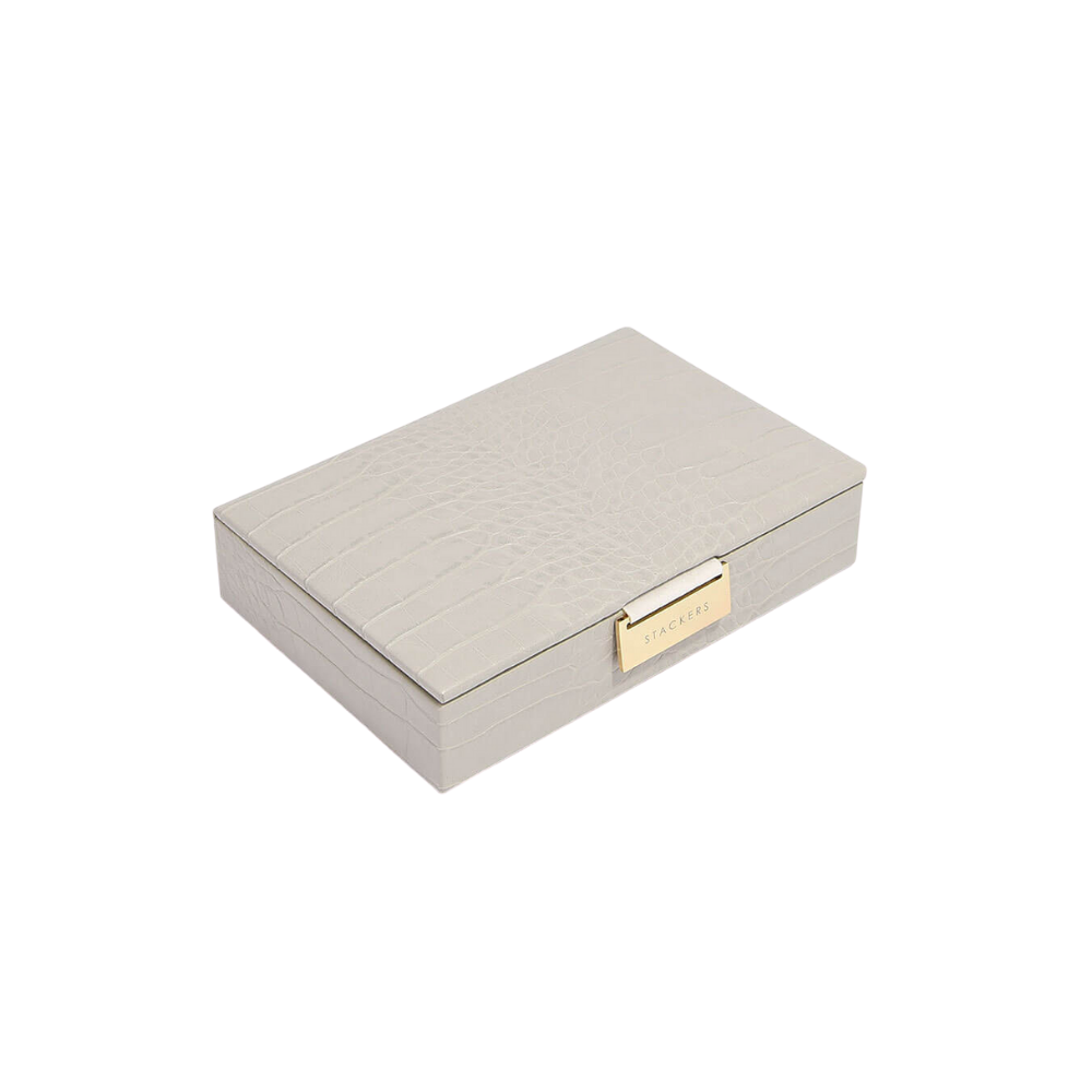 Mini Top Putty Croc & Grey Velvet-1