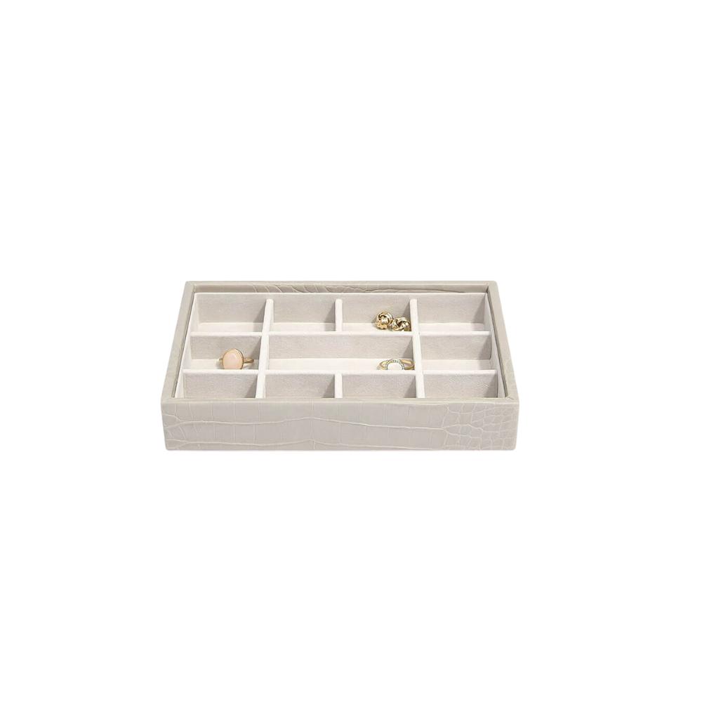 Mini 11-Section Box Putty Croc & Grey Velvet-2