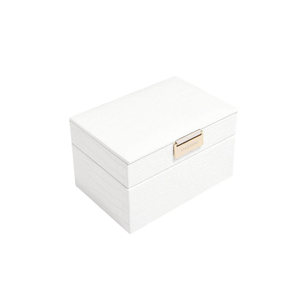 Mini 2-Set Chalk Croc & Grey Velvet-1
