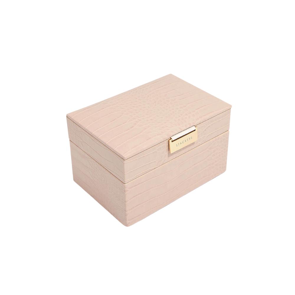 Mini 2-Set Pink Croc & Grey Velvet-1