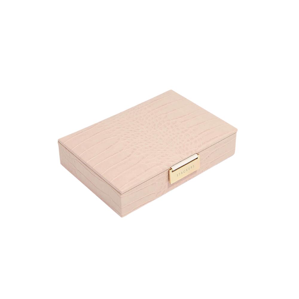 Mini 2-Set Pink Croc & Grey Velvet-2
