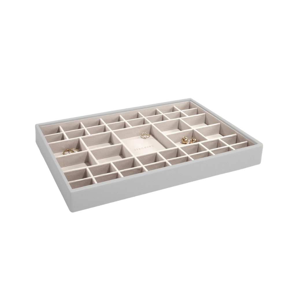 Supersize 41-Section Box Pebble Grey & Grey Velvet-1