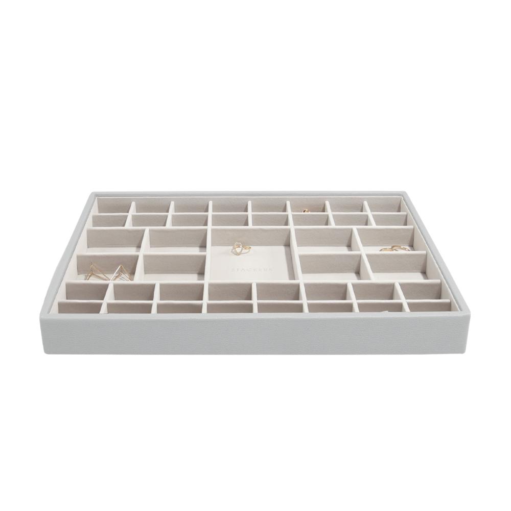Supersize 41-Section Box Pebble Grey & Grey Velvet-2