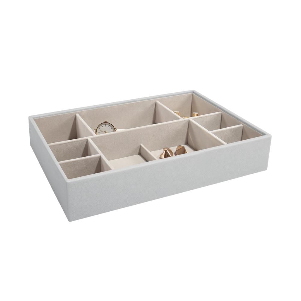 Supersize 11-Section Box Pebble Grey & Grey Velvet-1