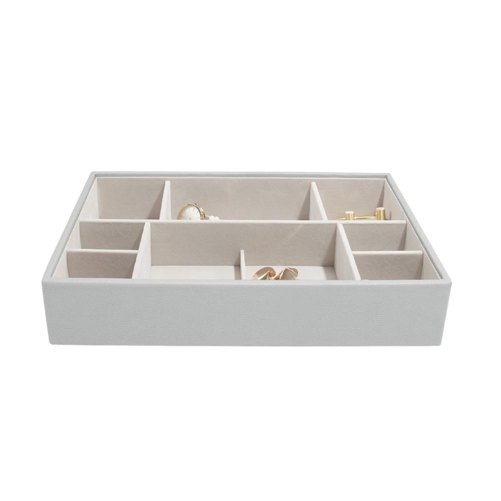 Supersize 11-Section Box Pebble Grey & Grey Velvet-2